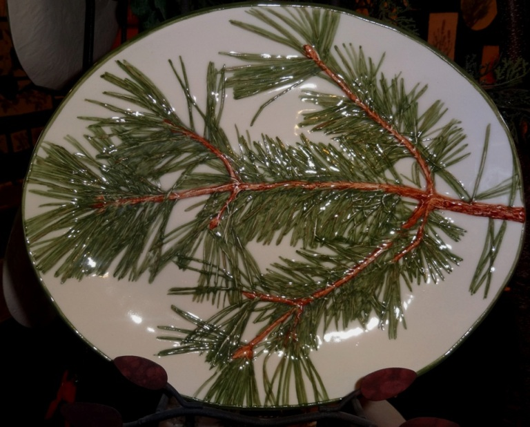 Christmas platter at Stillwater Porcelain