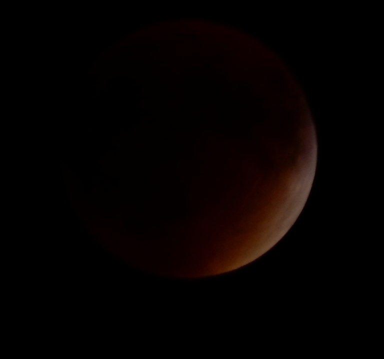 Blood moon eclipse totality - almost