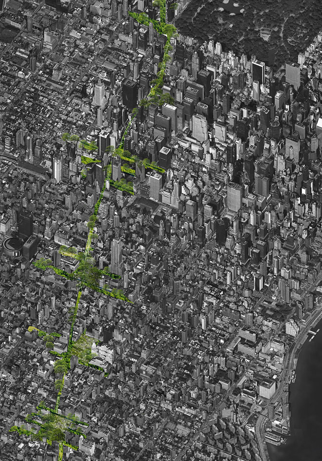 Proposed Greenline in Manhattan