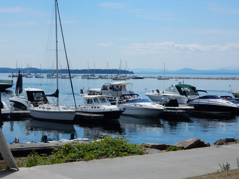 Marina on Lake Champlain in Burlington, VT