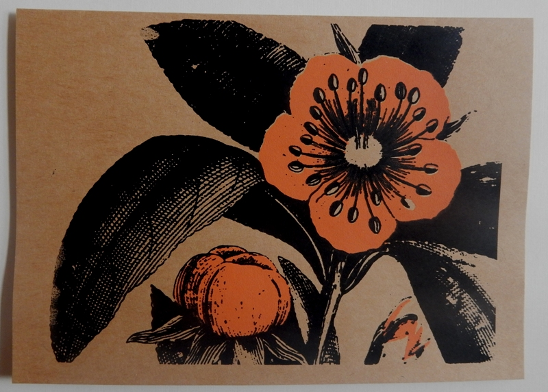 Marjie Moser's handprinted card