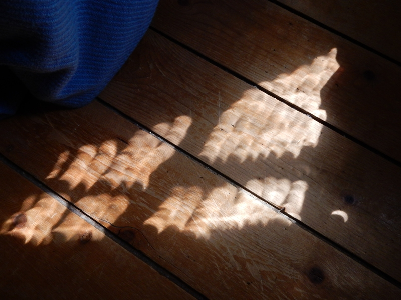 Venetian blind eclipses